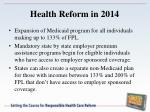 health reform in 2014