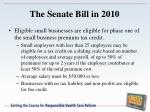 the senate bill in 2010