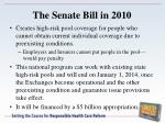 the senate bill in 20102