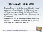 the senate bill in 20104