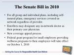 the senate bill in 20107