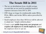 the senate bill in 2011