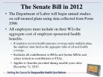 the senate bill in 2012