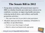 the senate bill in 20121
