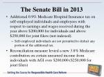 the senate bill in 2013