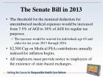 the senate bill in 20131