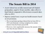 the senate bill in 2014