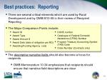 best practices reporting