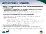 common mistakes in reporting
