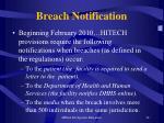 breach notification
