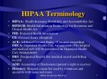 hipaa terminology