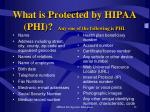 what is protected by hipaa phi any one of the following is phi
