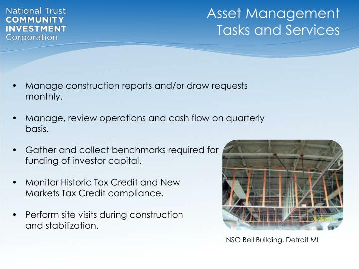 Asset Management Tasks and Services