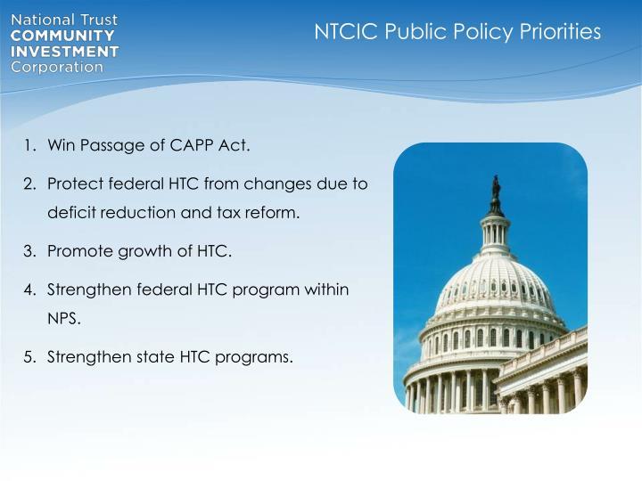 NTCIC Public Policy Priorities