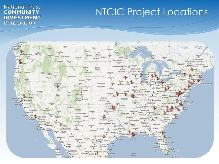 NTCIC Project Locations