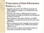 preservation of state enforcement powers sec 1042