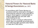 visitorial powers for national banks savings associations sec 1047