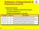 definition of departments functions cont d1