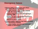 emergency issues