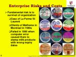 enterprise risks and costs