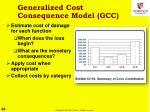 generalized cost consequence model gcc