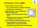 problems of the qrm
