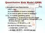 quantitative risk model qrm