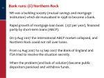 bank runs ii northern rock