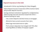 deposit insurance in the usa