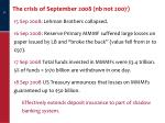the crisis of september 2008 nb not 2007