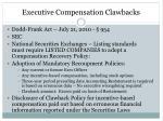 executive compensation clawbacks1
