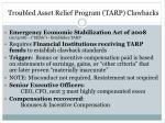 troubled asset relief program tarp clawbacks