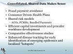 consolidated shared data makes sense