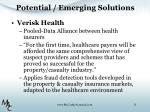 potential emerging solutions