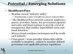 potential emerging solutions1