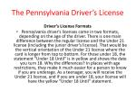 the pennsylvania driver s license7