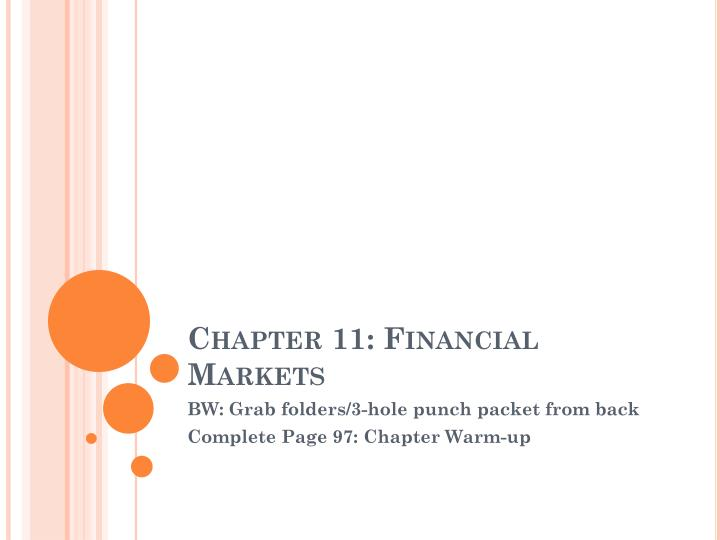 chapter 11 financial markets n.