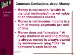 common confusions about money