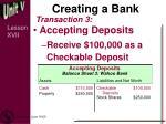 creating a bank2