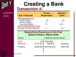 creating a bank4