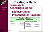 creating a bank6