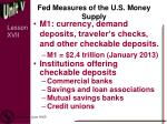fed measures of the u s money supply