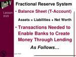 fractional reserve system1