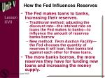 how the fed influences reserves1