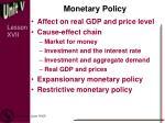 monetary policy2