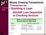 money creating transactions