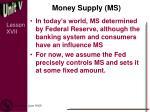 money supply ms