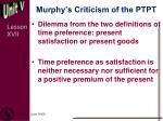 murphy s criticism of the ptpt