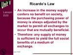 ricardo s law