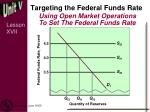 targeting the federal funds rate1